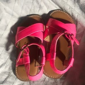 Toddler girls gap size 7 hot pink sandals shoes